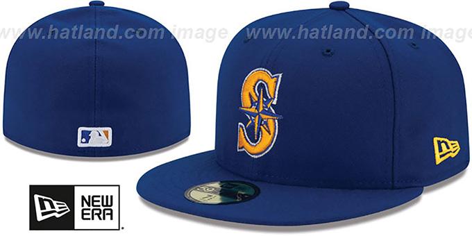 best website b8cbd 39f72 Mariners  AC-ONFIELD ALTERNATE-2  Hat by New Era