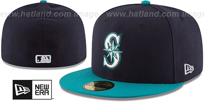 official photos e3887 40683 Seattle Mariners AC-ONFIELD ALTERNATE Hat by New Era. Mariners  AC-ONFIELD  ALTERNATE  Hat by ...
