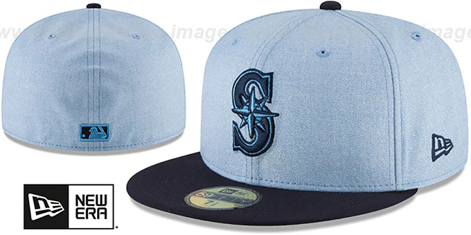 Mariners '2018 FATHERS DAY' Sky-Navy Fitted Hat by New Era