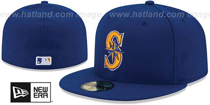 Mariners 'PERFORMANCE ALTERNATE-2' Hat by New Era : pictured without stickers that these products are shipped with