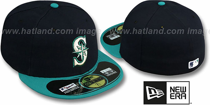 Mariners 'PERFORMANCE ALTERNATE' Hat by New Era : pictured without stickers that these products are shipped with