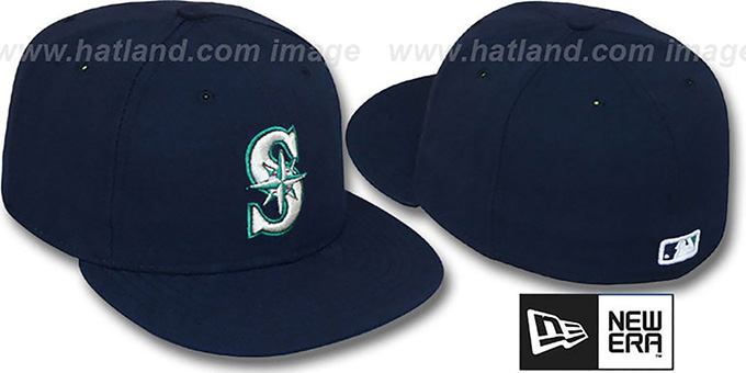 Mariners 'PERFORMANCE GAME' Hat by New Era : pictured without stickers that these products are shipped with