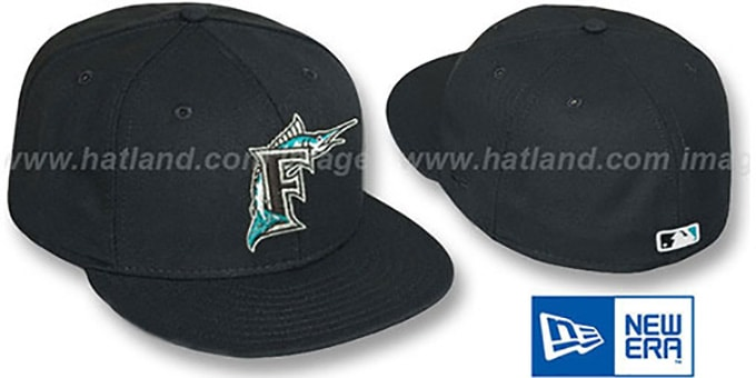 Marlins 2011 'PERFORMANCE GAME' Hat by New Era : pictured without stickers that these products are shipped with