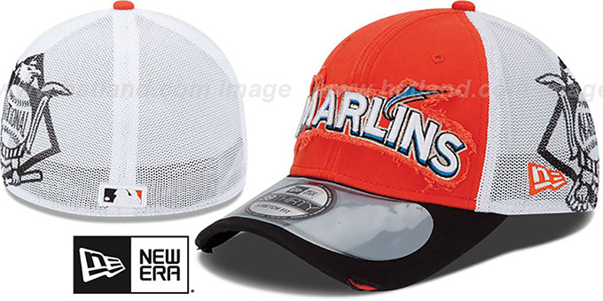 Marlins '2013 CLUBHOUSE' 39THIRTY Flex Hat by New Era : pictured without stickers that these products are shipped with