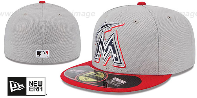 Marlins 2013 'JULY 4TH STARS N STRIPES' Hat by New Era : pictured without stickers that these products are shipped with