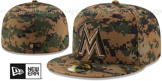 Marlins 2016 MEMORIAL DAY 'STARS N STRIPES' Hat by New Era : pictured without stickers that these products are shipped with
