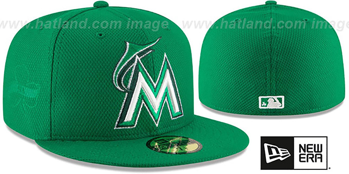 Marlins '2016 ST PATRICKS DAY' Hat by New Era : pictured without stickers that these products are shipped with