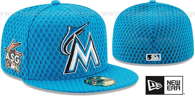 677e210b7c933a ... cheap marlins 2017 mlb home run derby blue fitted hat by new era 8761e  40593