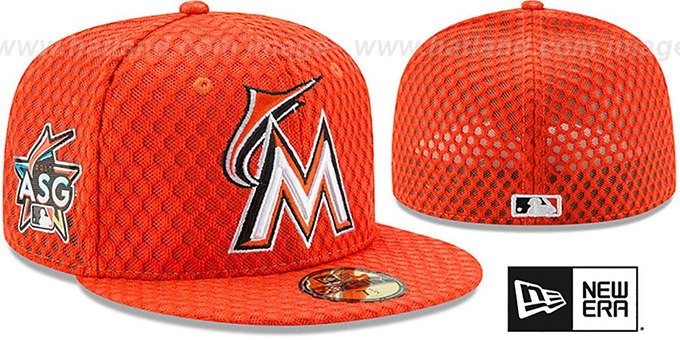 marlins 2017 mlb home run derby orange fitted hat by new