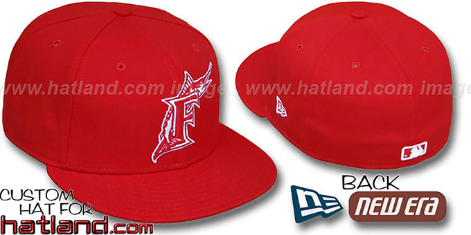 c5c0d5ca96a Florida Marlins Red-White 59FIFTY Fitted Hat by New Era
