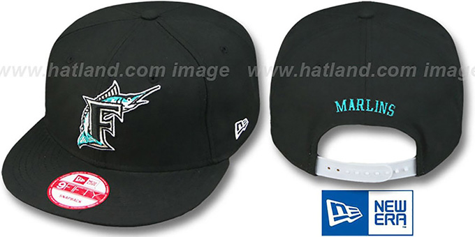 Marlins 'REPLICA GAME SNAPBACK' Hat by New Era : pictured without stickers that these products are shipped with