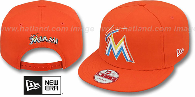 Marlins 'REPLICA ROAD SNAPBACK' Hat by New Era : pictured without stickers that these products are shipped with