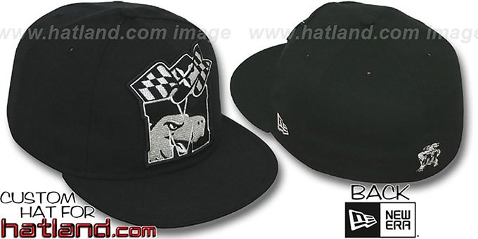 Maryland 'INSIDER BIG-ONE' Black-Silver Fitted Hat by New Era : pictured without stickers that these products are shipped with
