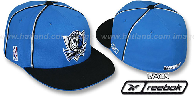 Mavericks 'CROSS TAPED' Fitted Hat by Reebok : pictured without stickers that these products are shipped with