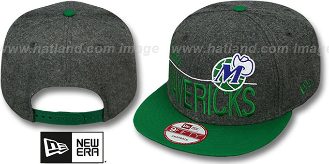 Mavericks 'FLANNEL SNAPBACK' Grey-Green Hat by New Era : pictured without stickers that these products are shipped with