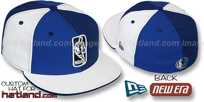Mavericks 'KEY-INSIDER PINWHEEL' Royal-Navy-White Fitted Hat : pictured without stickers that these products are shipped with