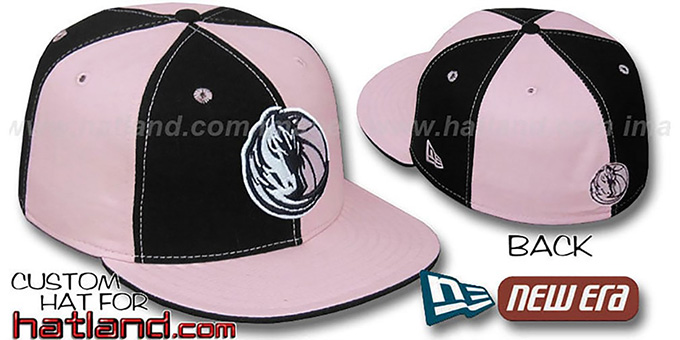 Mavericks 'PINWHEEL' Black-Pink Fitted Hat by New Era : pictured without stickers that these products are shipped with