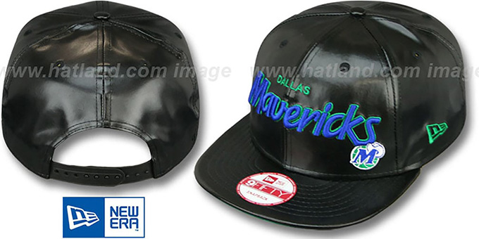 Mavericks 'REDUX SNAPBACK' Black Hat by New Era : pictured without stickers that these products are shipped with