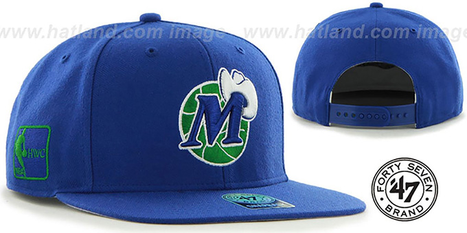 Mavericks 'SURE-SHOT SNAPBACK' Royal Hat by Twins 47 Brand : pictured without stickers that these products are shipped with