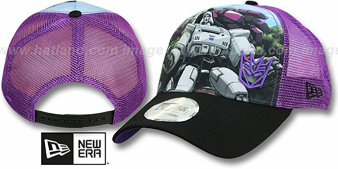 Megatron 'SPLASH FRONT TRUCKER' Adjustable Hat by New Era : pictured without stickers that these products are shipped with