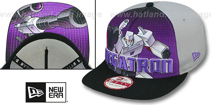 Megatron 'SUB-RIVAL SNAPBACK' Adjustable Hat by New Era : pictured without stickers that these products are shipped with