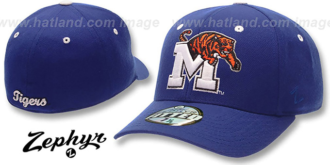Memphis 'DHS' Hat by Zephyr - royal : pictured without stickers that these products are shipped with