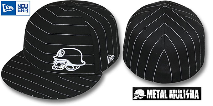 Metal Mulisha 'DIVERGENT' Black Fitted Hat by New Era : pictured without stickers that these products are shipped with