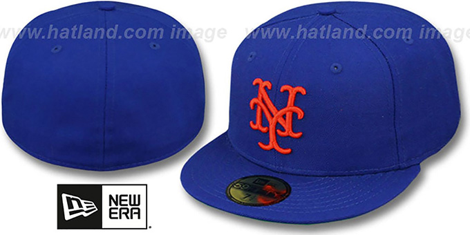 Mets '1969 COOPERTOWN' Fitted Hat by New Era : pictured without stickers that these products are shipped with
