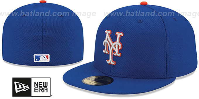 Mets '2015 ALT-2 DIAMOND-TECH BP' Hat by New Era : pictured without stickers that these products are shipped with