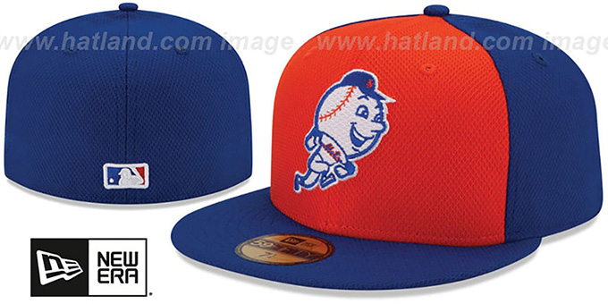 Mets '2015 GAME DIAMOND-TECH BP' Hat by New Era : pictured without stickers that these products are shipped with