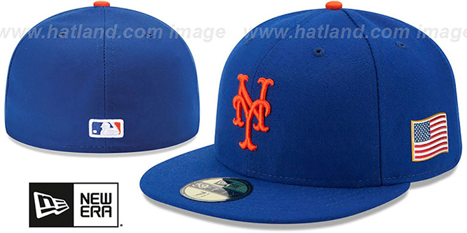 Mets '2015 STARS-N-STRIPES 911 GAME' Hat by New Era : pictured without stickers that these products are shipped with