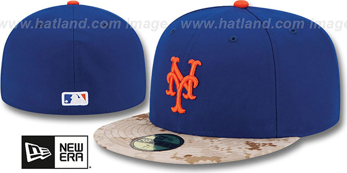 Mets '2015 STARS N STRIPES' Fitted Hat by New Era : pictured without stickers that these products are shipped with