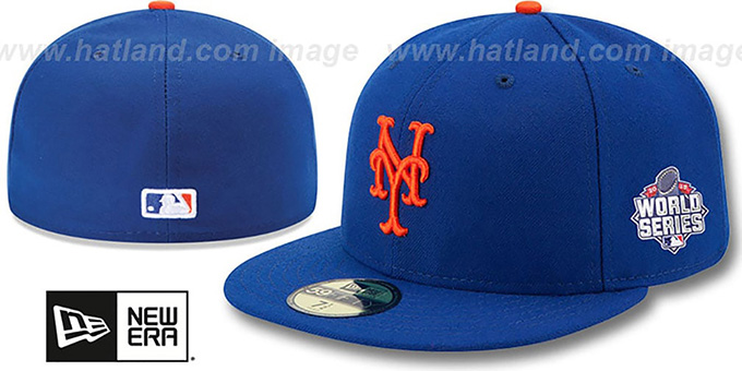 Mets '2015 WORLD SERIES GAME' Hat by New Era : pictured without stickers that these products are shipped with