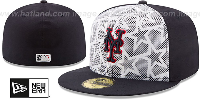 Mets '2016 JULY 4TH STARS N STRIPES' Fitted Hat by New Era : pictured without stickers that these products are shipped with