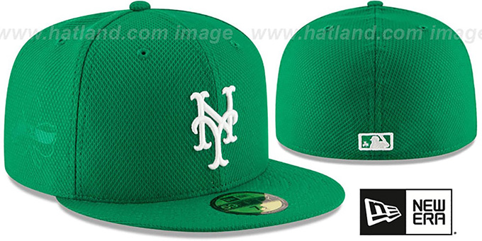 Mets '2016 ST PATRICKS DAY' Hat by New Era : pictured without stickers that these products are shipped with