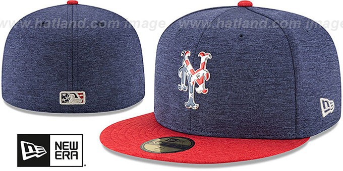 Mets  2017 JULY 4TH STARS N STRIPES  Fitted Hat by New Era 74cb6933a50