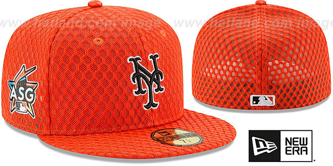 0a95a5fe020 Mets  2017 MLB HOME RUN DERBY  Orange Fitted Hat by New Era