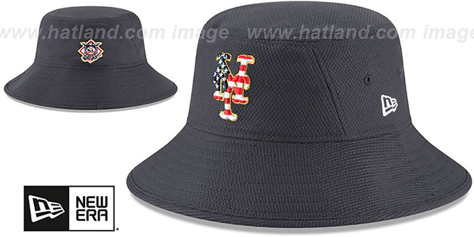 0bd39aee ... New Era. video available. Mets '2018 JULY 4TH STARS N STRIPES BUCKET'  Navy Hat by ...