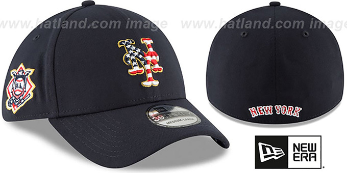 005a89fc ... New Era. video available. Mets '2018 JULY 4TH STARS N STRIPES FLEX'  Navy Hat by ...