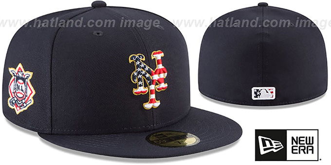 0c2ff58d5b6446 ... New Era. video available. Mets '2018 JULY 4TH STARS N STRIPES' Navy Fitted  Hat by ...