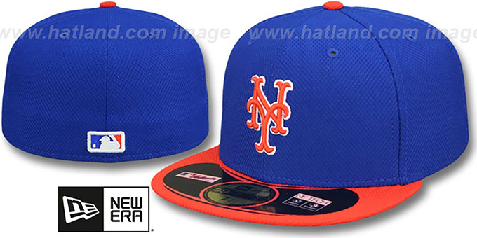 Mets '2014 ALTERNATE DIAMOND-TECH BP' Hat by New Era : pictured without stickers that these products are shipped with