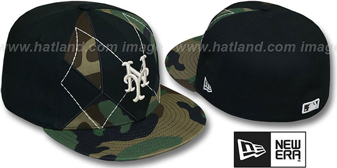 Mets 'ARMY CAMO BRADY' Fitted Hat by New Era : pictured without stickers that these products are shipped with