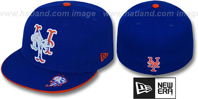 Mets 'INSIDER BIG-ONE' Royal Fitted Hat by New Era : pictured without stickers that these products are shipped with