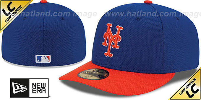 Mets 'LOW-CROWN' ALTERNATE-2 Fitted Hat by New Era : pictured without stickers that these products are shipped with
