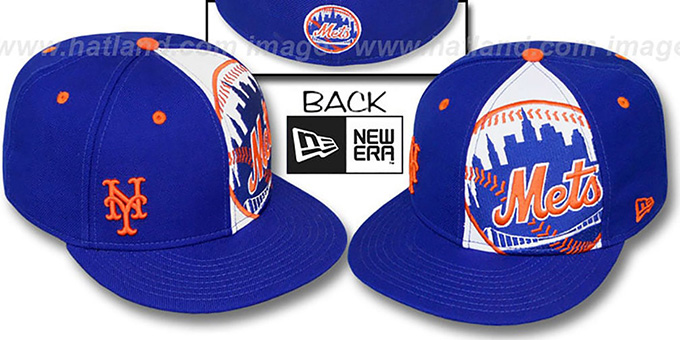 the best attitude 34807 6da50 ... New Era. Mets  MASCOT-ZOOM  Royal Fitted Hat by ...
