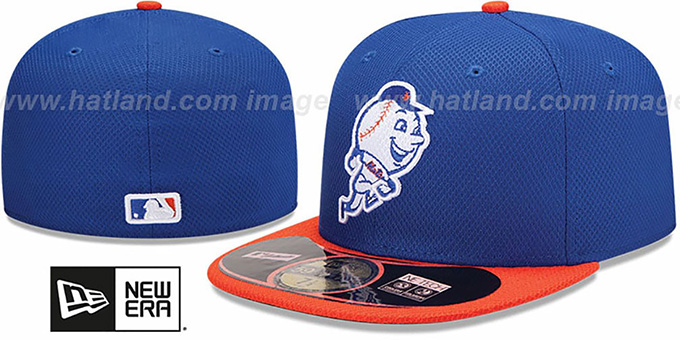 Mets '2014 ALT-1 DIAMOND TECH BP' Hat by New Era : pictured without stickers that these products are shipped with