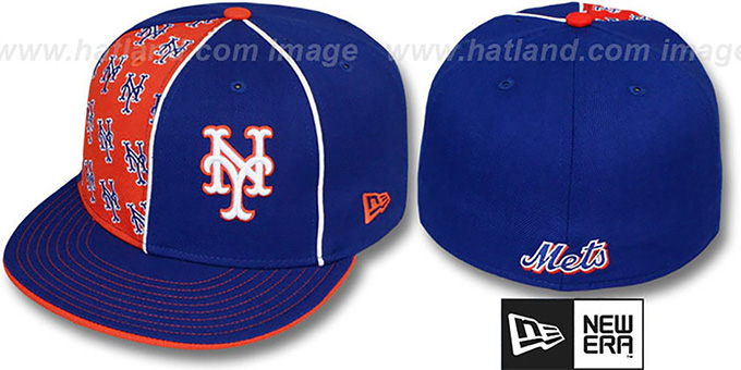 Mets 'MULTIPLY' Royal-Orange Fitted Hat by New Era : pictured without stickers that these products are shipped with