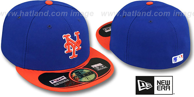 Mets 'PERFORMANCE ALTERNATE-2' Hat by New Era : pictured without stickers that these products are shipped with