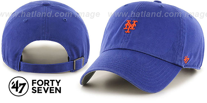 Mets 'POLO STRAPBACK' Royal Hat by Twins 47 Brand : pictured without stickers that these products are shipped with