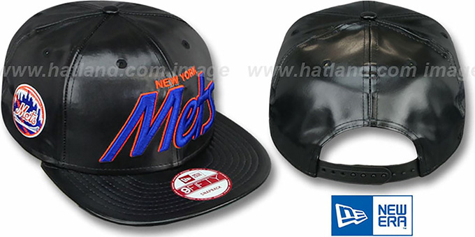 Mets 'REDUX SNAPBACK' Black Hat by New Era : pictured without stickers that these products are shipped with